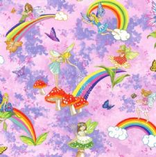 Nutex Pretty Please Fairies 100% Cotton Fabric